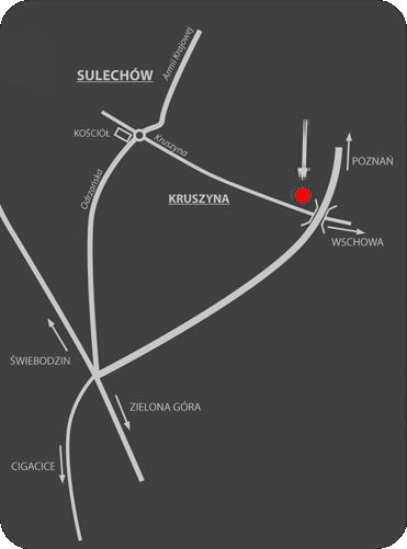 Top Auto Sulechów - mapka