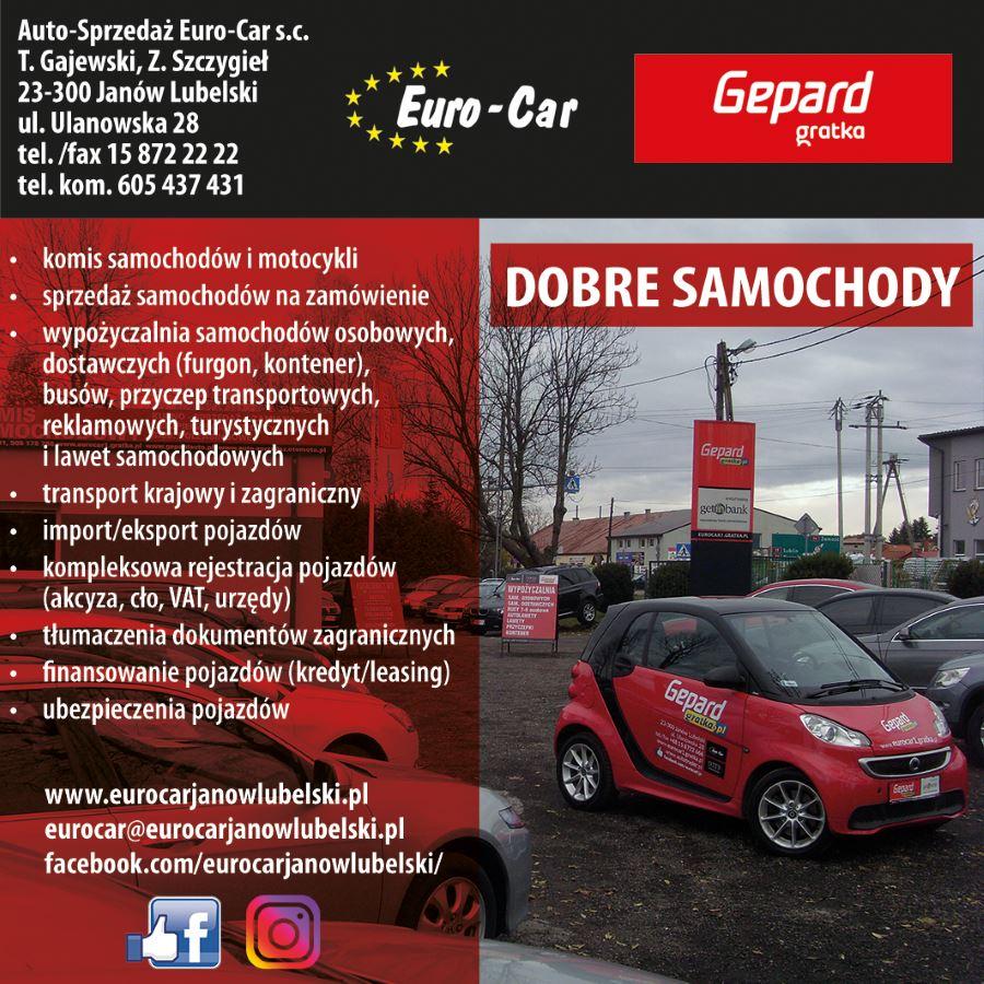 Wspaniały Autokomis - Janów Lubelski | Euro-Car Gepard. Sprzedaż, wynajem EZ91