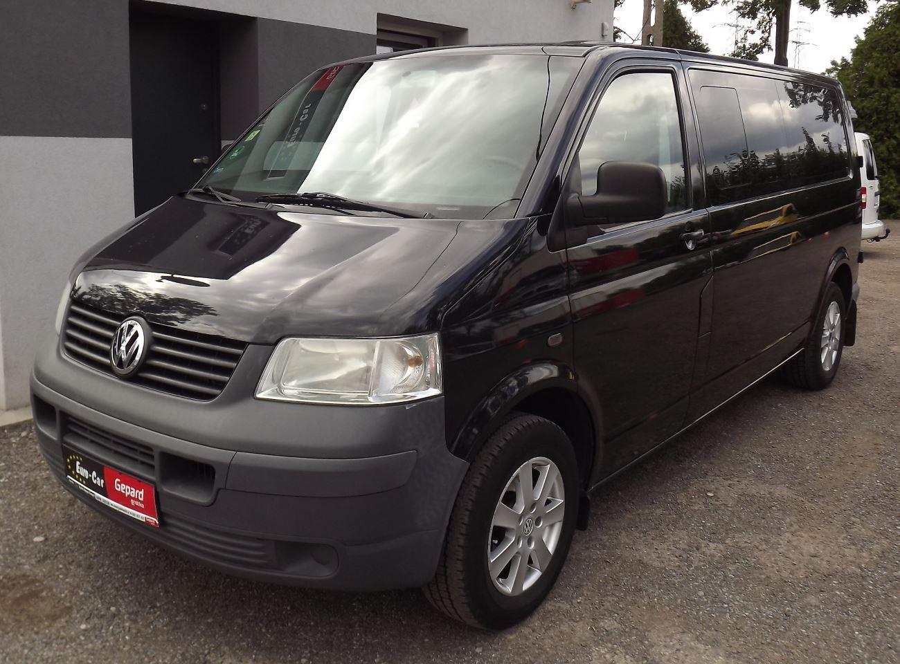 Volkswagen Transporter 5 Bus 9-osobowy - Wypożyczalnia Euro Car Janów Lubelski, Wynajem
